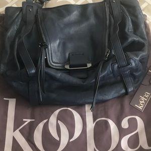 "Kooba ""Jonnie"" Navy genuine leather bag"